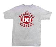 Adidas Youth Nebraska Huskers Football Gridiron Tee