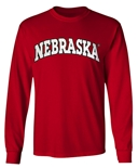 Arch Nebraska LS Tee - Red