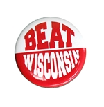 Beat Wisconsin Button