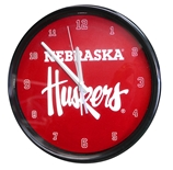 Black Rim Nebraska Clock