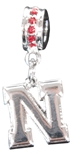 Bling Red N logo Charm