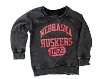 Childrens Nebraska Huskers Edge Fade Sweat