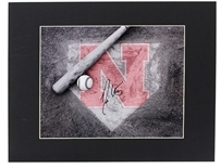 Coach Erstad Autographed Home Plate Photo
