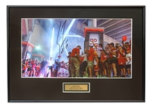 Coach Frost Autographed Tunnel Walk Framed Print