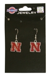 Fishhook Dangle Nebraska Earrings