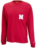 Go Big Red LS Pocket Tee