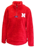 Go Big Red Ladies Quarter Zip Sherpa