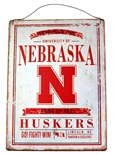 Home of the Huskers Vintage Tin Sign