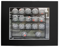 Husker Basketball Rack Matted Print