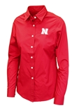 Husker Gals Long Sleeve Button Up Dress Shirt