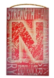 Husker Heritage Word-Collage Wooden Wall Sign