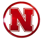 Husker Iron N Reflective Metal Yard / Wall Sign