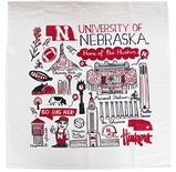 Husker Landmarks Julia Gash Kitchen Towel