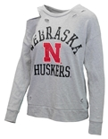 Husker Womens Ripped Terry Sweat