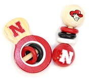 Huskers Baby Wooden Rattle Set