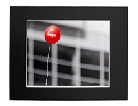 Huskers Balloon Matted Print