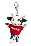 Huskers Cow Keychain