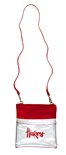 Huskers Faux Leather Clear Crossbody