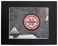Huskers Football Patch Matted Print