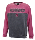 Huskers Hit Split Crewneck