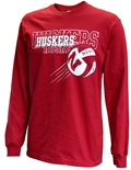 Huskers Huskers Huskers LS Volleyball Tee
