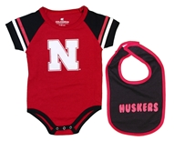 Huskers Infant Warner Onesie Bib Set