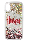 Huskers Iphone X/XS Floating Glitter Case