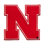 Huskers N Logo 4 Inch Embroidered Patch