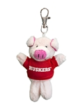 Huskers Piggy Keychain