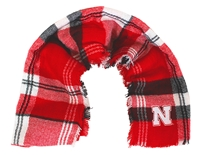 Huskers Plaid Blanket Scarf