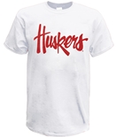 Huskers Script Tee - White