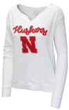 Huskers V-Neck Terry Sweatshirt