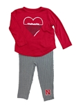 Infant Girls Nebraska Sweetums Legging Set