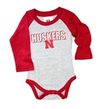 Infant Huskers Hopper Onesie Raglan