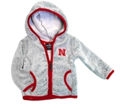 Infant Nebraska Chicken Boo Fuzzy Jacket