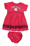 Infant Nebraska Fancy Gal Dress Set