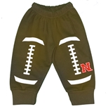 Infants Nebraska Football Leggings