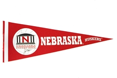John Cook Autographed Husker Volleyball Pennant