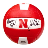 John Cook Autographed Huskers Volleyball