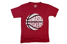 Kids Nebraska Huskers Basketball Tee