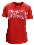 Ladies Dyed Slub Huskers Tee