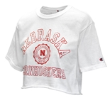 Ladies Nebraska Boyfriend Crop Tee