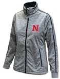 Ladies Nebraska Antigua Golf Jacket