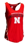 Ladies Nebraska Huskers Stretch Knit Tank