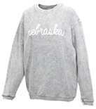 Ladies Nebraska Script Corded Crew