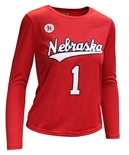 Ladies Nebraska Volleyball Away Jersey Top