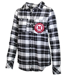 Ladies Nebraska Warm Up Flannel Shirt
