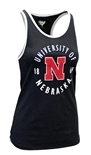 Ladies University of Nebraska Ringer Tank