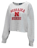 Lady Huskers Wide Neck Cropped Crew