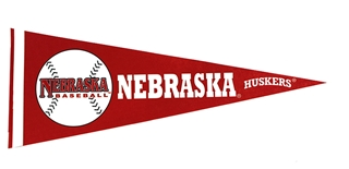 Nebraska Baseball Pennant Flag